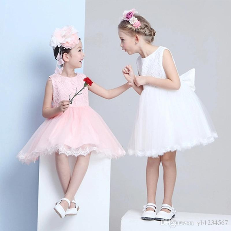 2017 Hot sale little girl dress 1 year birthday dresses for girls kids princess party dresses baby clothing for teenage girls ball gown