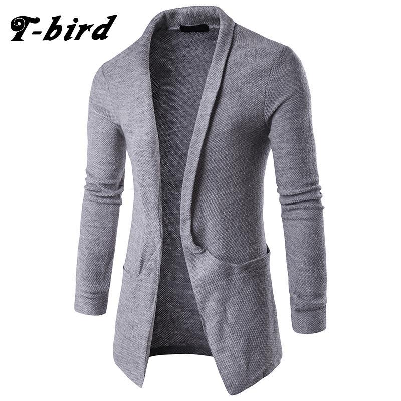 2018 T Bird Sweater Men 2017 Brand Concise V Neck Long Style ...