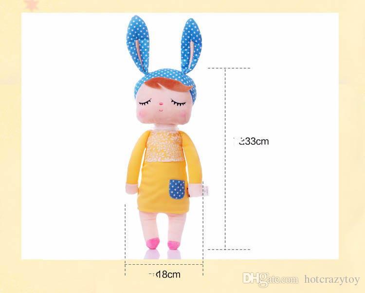 Kawaii Gefüllte Plüschtiere Cartoon Kinder Spielzeug für Mädchen Kinder Baby Geburtstag Weihnachtsgeschenk Angela Kaninchen Mädchen Metoo Puppe