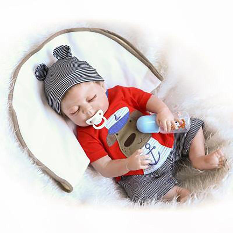 Full Body Silicone Reborn Baby Sleeping Doll Soft Vinyl