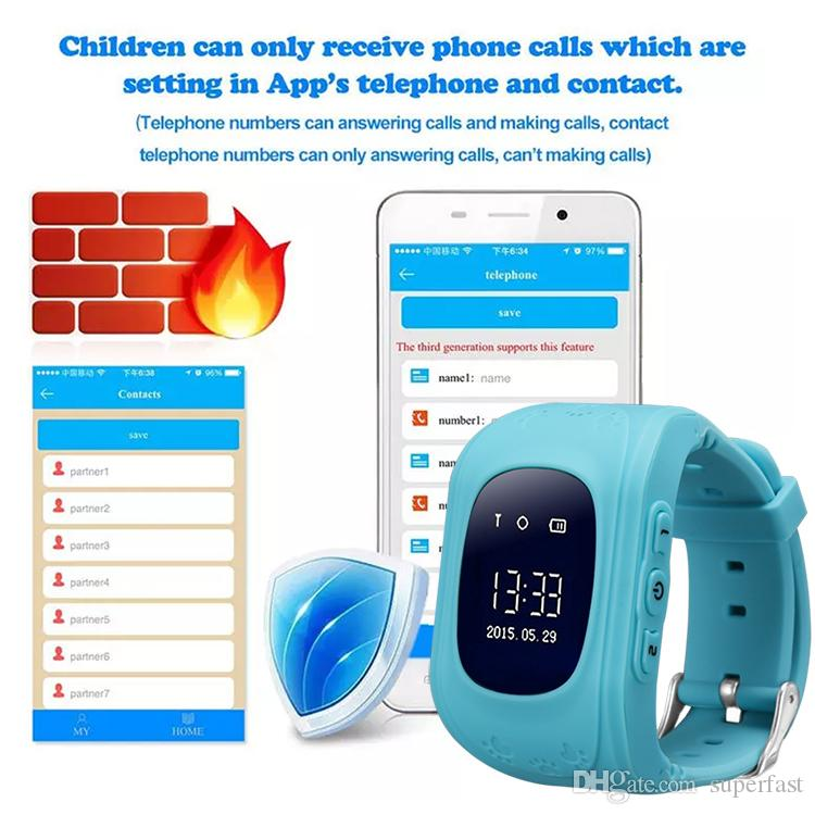 Q50 GPS Tracker for Child Kid Smart Watch SOS Call Anti-lost With SIM Card Slot Birthday Gift For Children For iOS and Android