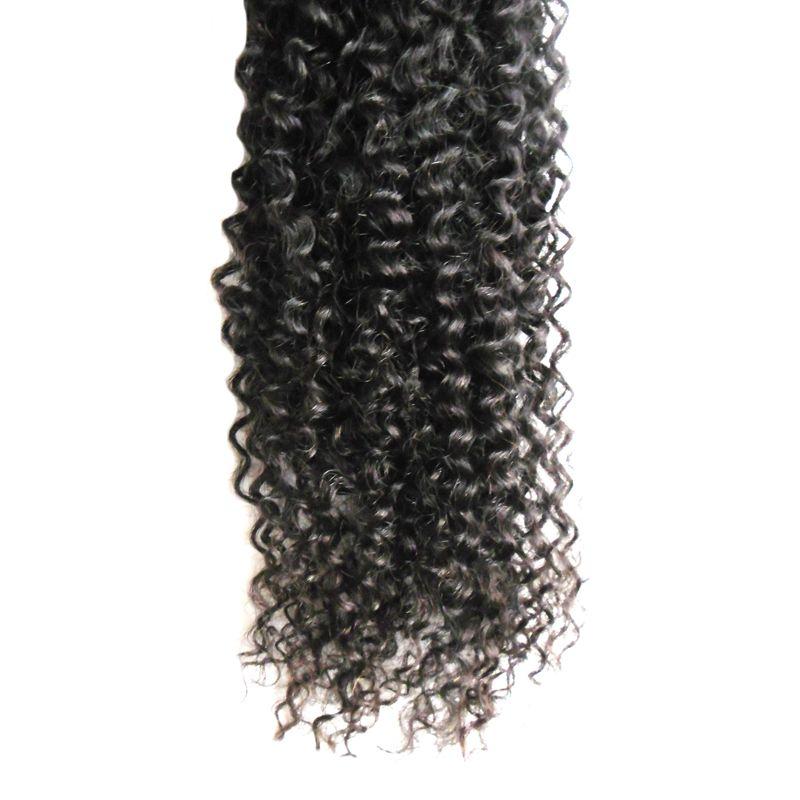Переплетения пучки черный бразильский кудрявый вьющиеся Виргинские волосы переплетения комплект 100 г афро кудрявый вьющиеся волосы переплетения пучки 1 шт.