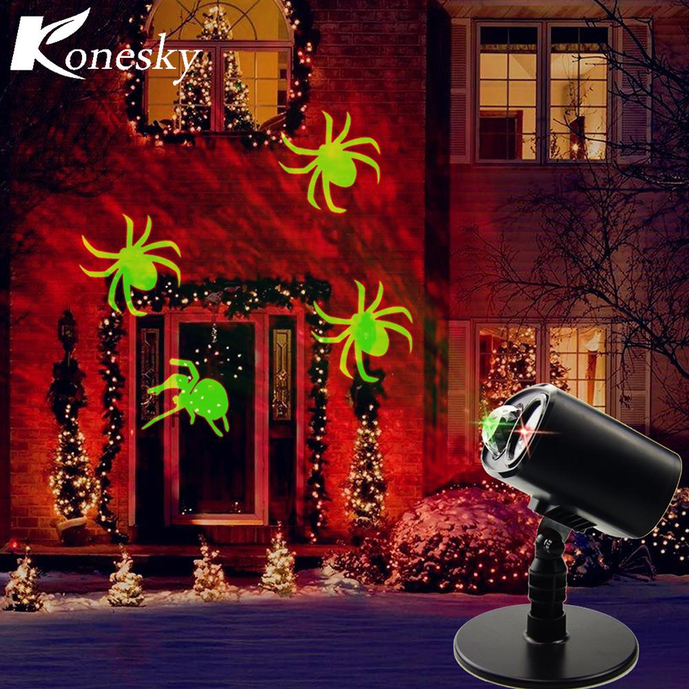 wholesale led light projector halloween decorations waterproof outdoor indoor party light with spider pattern for party garden home decor lighting stage
