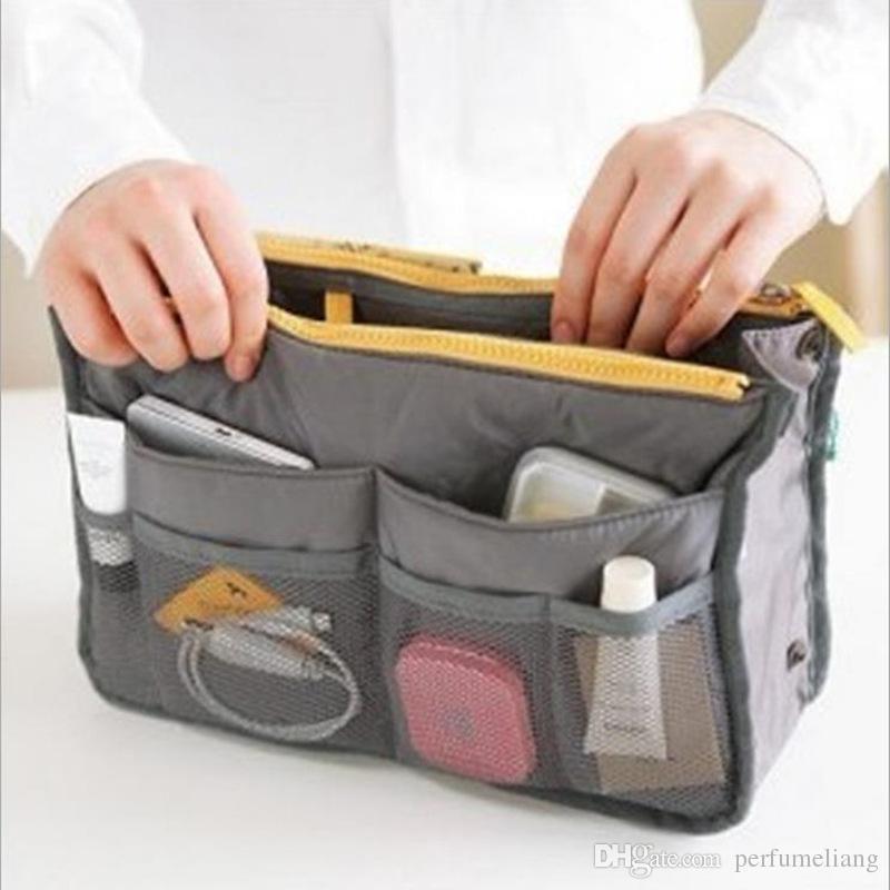 Organisateur de mode de femmes sac de voyage sac à main sac à main insert Tidy maquillage maquillage sac de rangement sac de téléphone pochette pochette fourre-tout MP3 / Mp4 sacs JF-858