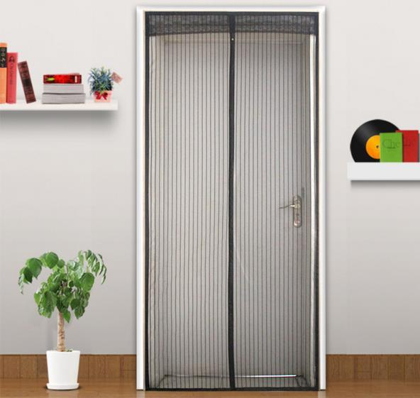 Summer Magic Curtain Door 90*210cm Magnetic Mesh Screen Door Self Closing Curtain For Household Anti Insects Divider Kitchen Window Curtains Online Shopping ... & Summer Magic Curtain Door 90*210cm Magnetic Mesh Screen Door Self ...
