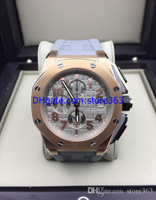 Luxury Top Quality LeBron James Mens Watch Rose Gold Gray Rubber Quartz Chronograph Working Men's Watches 2813