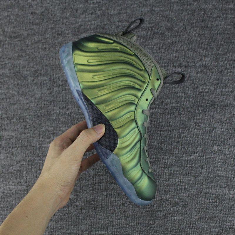 Nova Cor Pro Penny Hardaway Tênis de Basquete Cor Verde Vachetta Tan Calçados Esportivos de Corrida Sapatilhas Sapatilhas Olímpico