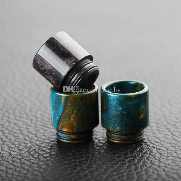 La più recente punta a goccia in resina epossidica 810 punte a goccia larga in resina colorata TFV8 TFV12 atomizzatori Tank Kennedy 24 RDA RBA Mods