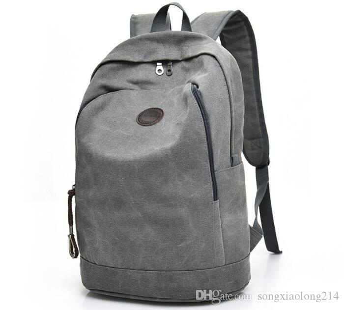 1776dcabb62 New Fashion Men Canvas Backpack Laptop School Bag For Teenage Boys Students  Casual Travel Backpacks Large Rucksack Book Bags Black Leisure Travel  Backpacks ...