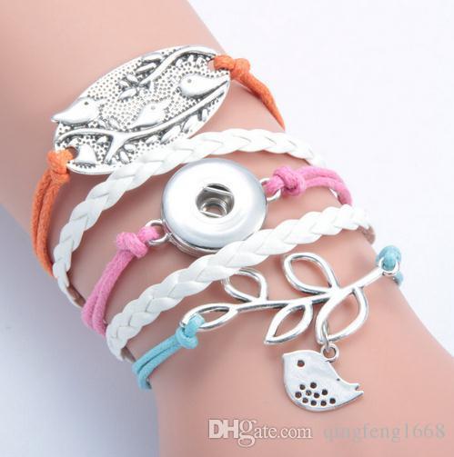 Geflochtenes Armband SL017 der heißen Verkaufsdame Alloy PU-ledernen Art und Weise