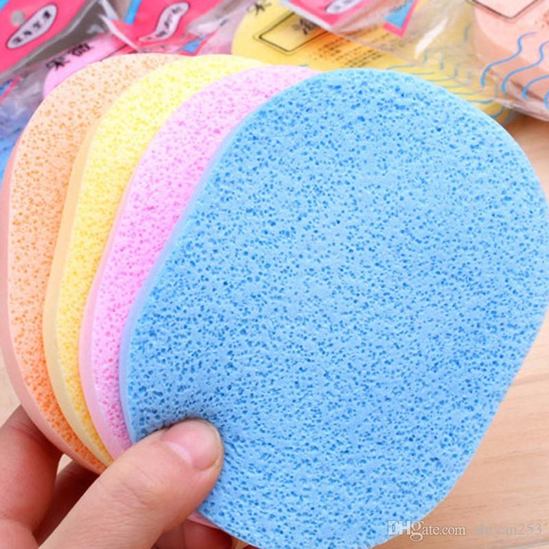 Soft Facial Cleansing Sponge Face Makeup Wash Pad Cleaning Sponge Puff Exfoliator Scrub Random Color