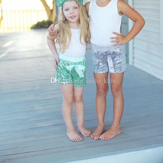 2017 NOUVEAU ARRIVE ENFANTS LILAC SEQUIN SEQUIN BRÉTIÈRES BEST GIRLES PURPLE FILLES PEUILLAIS COURTS LE PREMIER SQUIN PREVINE PREMIER ANNIVERSION GLITTER Lavender Shorts