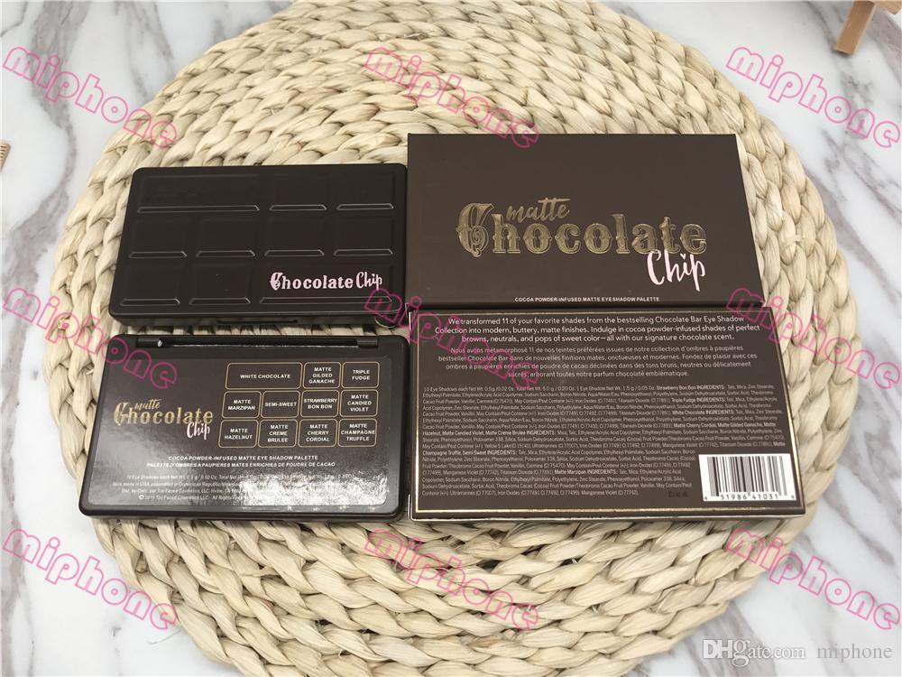 실제 고품질의 초콜릿 칩 아이 섀도우 11 색 메이크업 너무 Faceeyeshadow 팔레트 화이트와 매트 메이크업 아이 섀도우 초콜릿 냄새