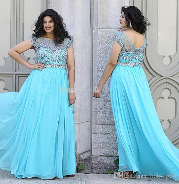 Baby blue cocktail dress plus size