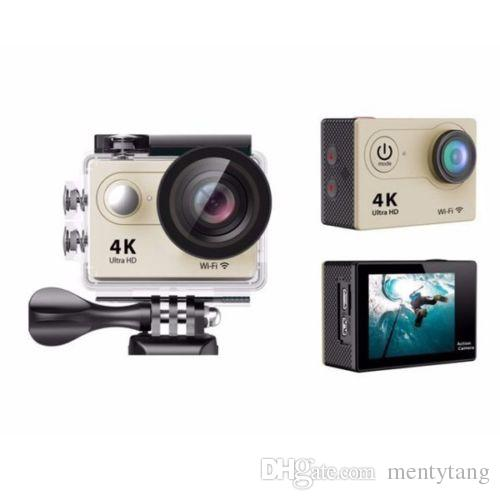Mini Sport Action Camera 2.0inch Display Ultra HD 4K 12MP WiFi Remote 30M Waterproof Camcorder for IOS and Android