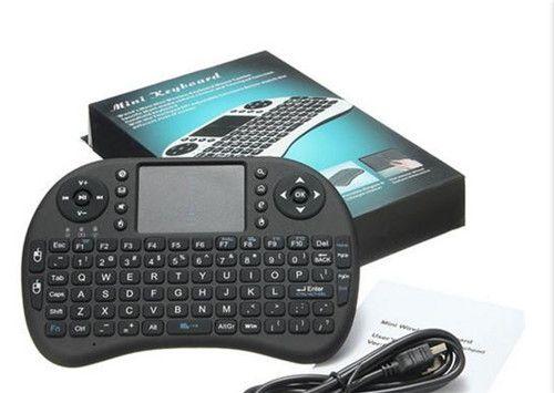 Rii i8 mini teclado inalámbrico para android tv box usb Air mouse con Touchpad 2.4G para Smart box mxq