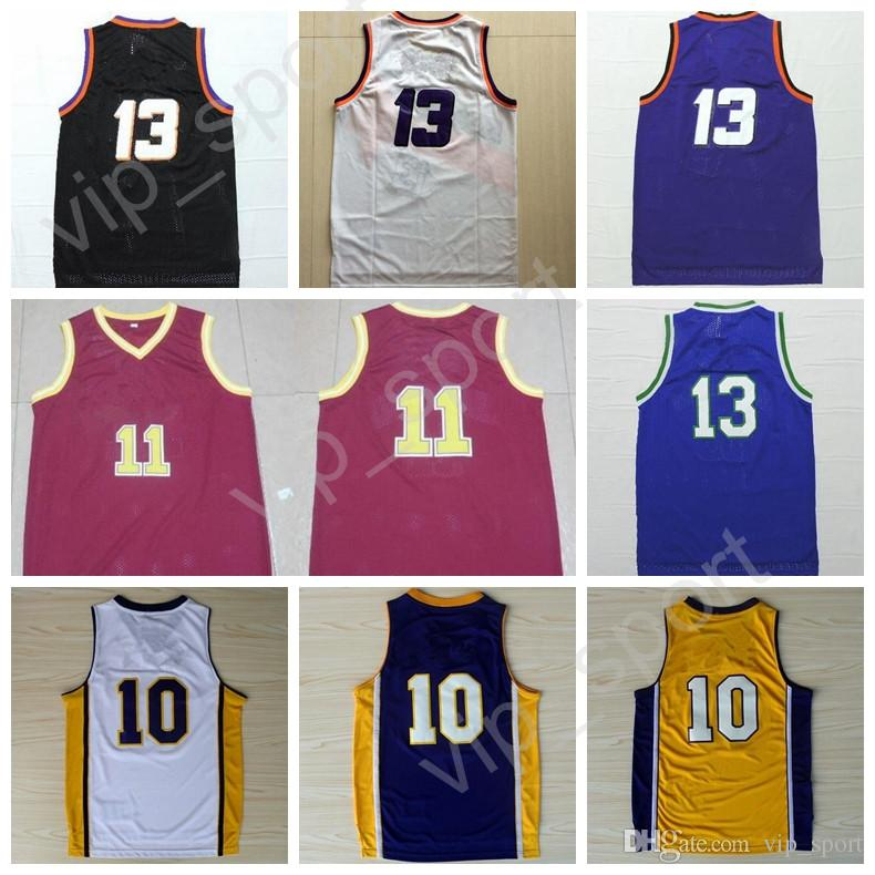 7e16adb76ab ... 2017 Men Throwback 13 Steve Nash Jersey Cheap 10 Steve Nash Basketball  Jerseys Vintage Stitched Black