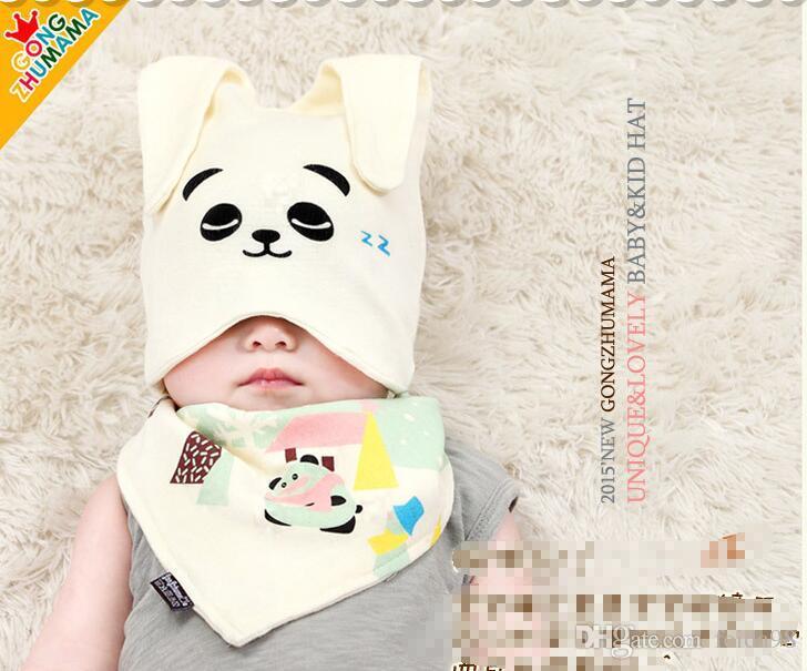 Gorros de algodón para bebés accesorios de fotografía recién nacidos baberos de sombrero infantil niños y niñas baberos de Bandana bebé gorro de sueño G586