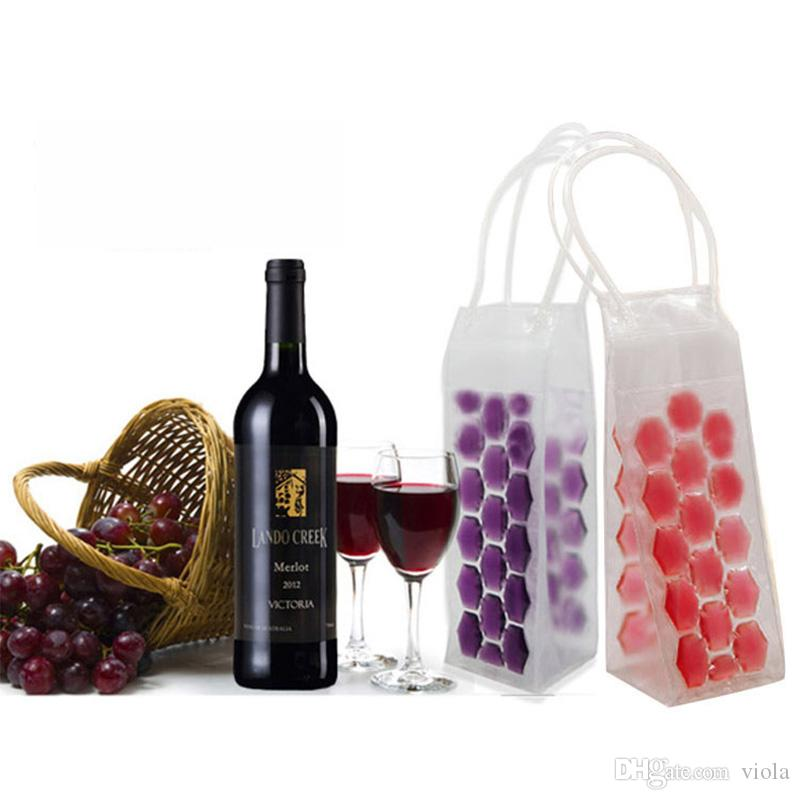 Rapid Ice Wine Cooler PVC Beer Cooler Bag Outdoors Ice Gel Bag Picnic CoolSacks Wine Coolers Chillers Frozen Bag Bottle Cooler
