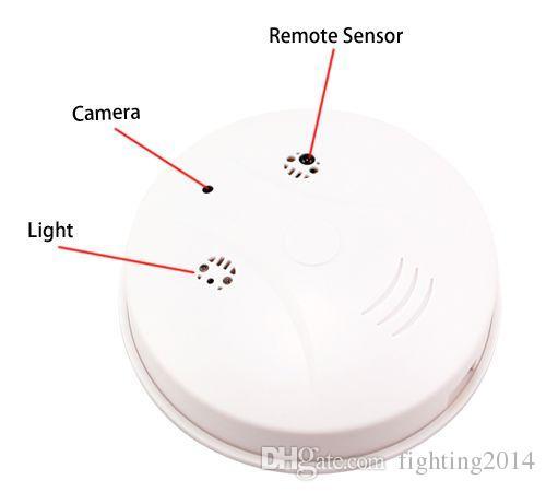Remote Control Smoke Detector Camera HD Motion Detection Mini DV wireless surveillance Home Security Cam Nanny camera mini Camcorder