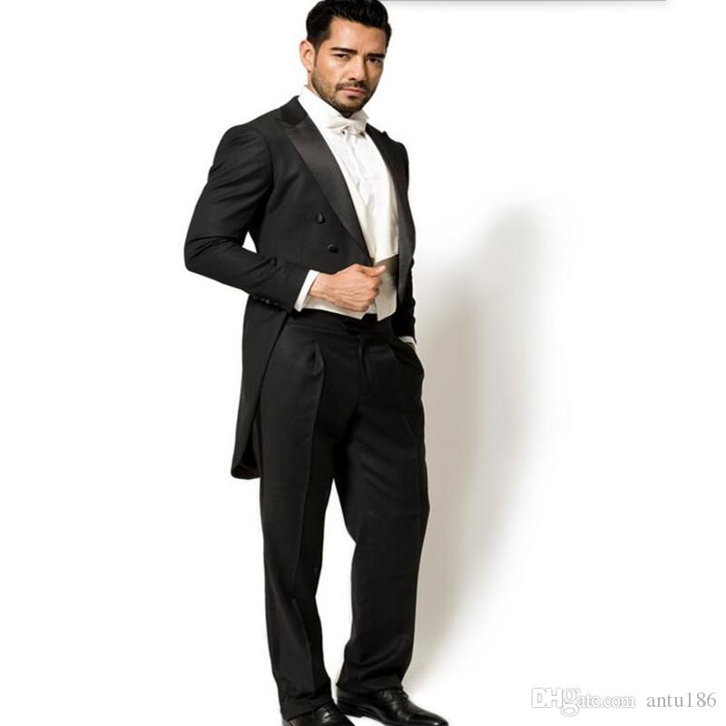 Hot Sale Wedding Groom suits Tuxedos elegant Gentleman tailor made Man Suit prom dinner suit tuxedosJacket +pants+vest