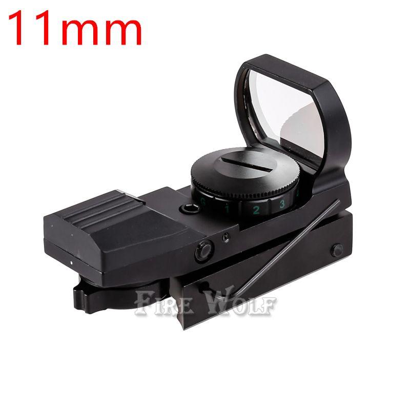LUPO DI FUOCO Tattico 20mm o 11mm Olografico 1x22x33 Reflex Red Green Dot Sight Scope Caccia