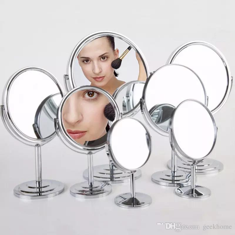 wholesale newest luxurly Makeup Cosmetic Double Sided mirror Normal and 2 Magnifying Stand Mirror Lady Table Desk Standing mirror