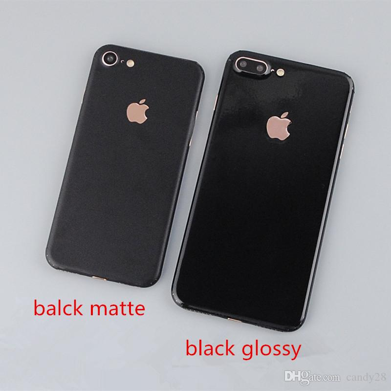 2018 for iphone7 6 plus 5s full cover black matte and jet black glossy metallic back cover cell phone protector screen stickers skin decal from candy28