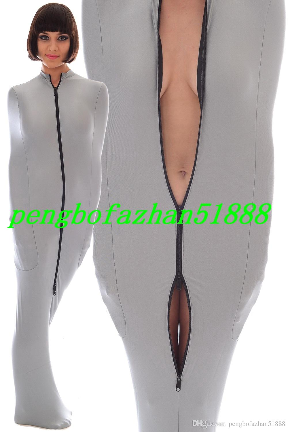 Unisex Mummy Suit Outfit Sexy Lycra Spandex Mummy Suit Costumes With internal Arm Sleeves Unisex Mummy Sleeping Bags Costumes P156