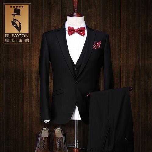 2018 costume homme mariage 2017 de marque trajes hombre. Black Bedroom Furniture Sets. Home Design Ideas