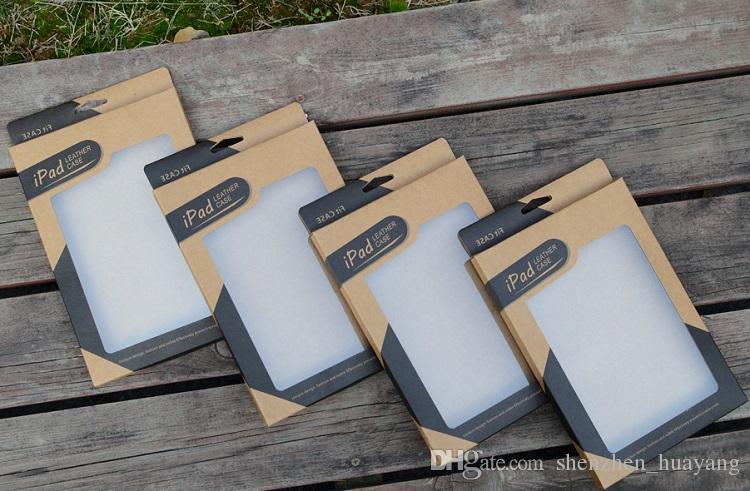 كرافت ورقة مربع حزمة البيع بالتجزئة لمصغرة I PAD 2 3 4 5 الهواء 2 اللوحي 7.9 9.7 بوصة جلد تغطية الحالات حالة صناديق التعبئة والتغليف التي