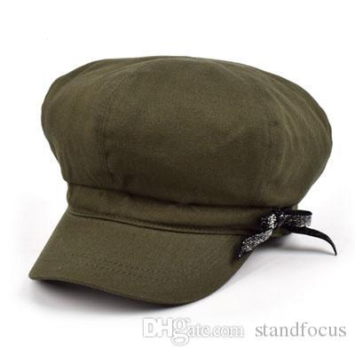 Stand Focus Baker Boy Cabby Newsboy Gatsby Hat Cap Women Ladies Fashion Cotton Twill Spring Summer Khaki Navy Olive Burgundy Yellow Causal