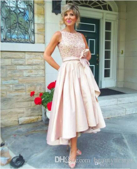 Modern High Low Mother Of The Bride Groom Dresses 2018