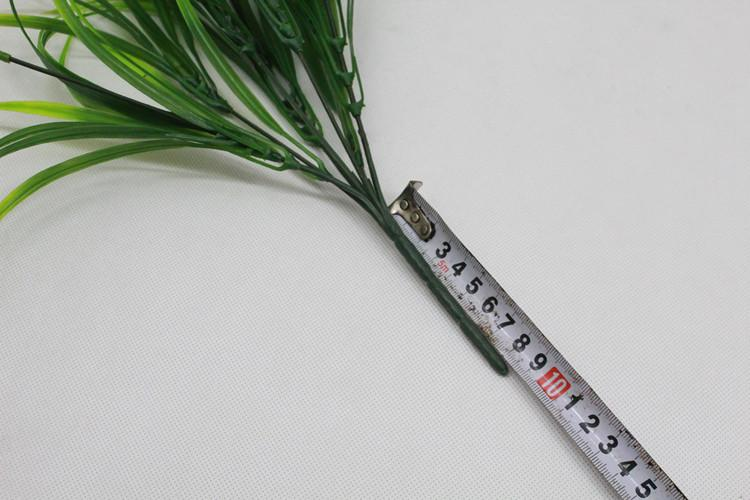 37cm Artificial Plants, Faux Plastic Wheat Grass Fake Leaves Shrubs Simulation Greenery Bushes Indoor Outside Home Garden Office Vera