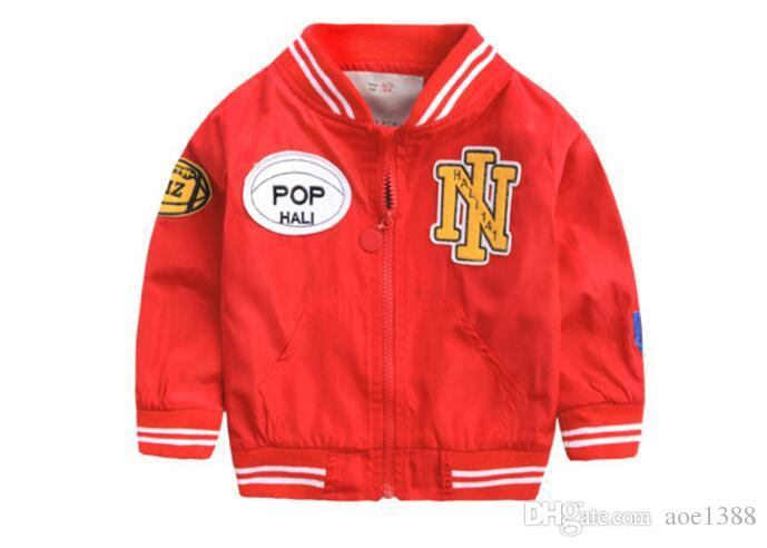 NY Bebê Menino jaquetas Crianças roupas de beisebol nova primavera e outono meninos casaco NY outerwear crianças jaquetas aape para o menino 2-7 anos de idade