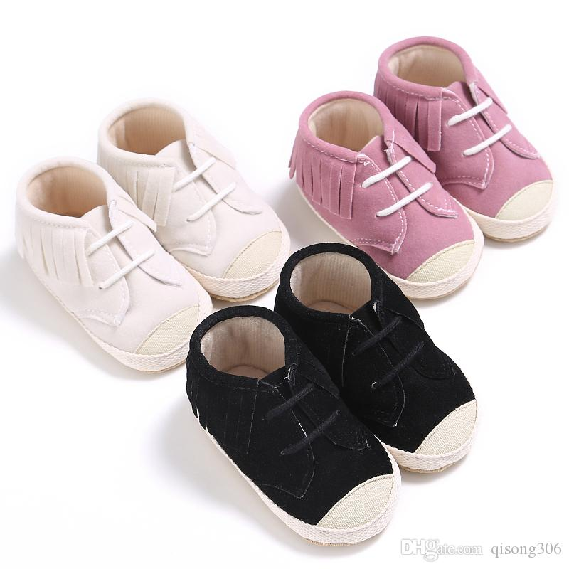 0db9f9310d6f Non-slip Baby First Walkers Spring And Autumn New 0-1 Year Old Baby Boy  Girl Shoes Soft Bottom Fashion Tassel Baby Leisure School Shoes Baby Shoes  Baby Boy ...