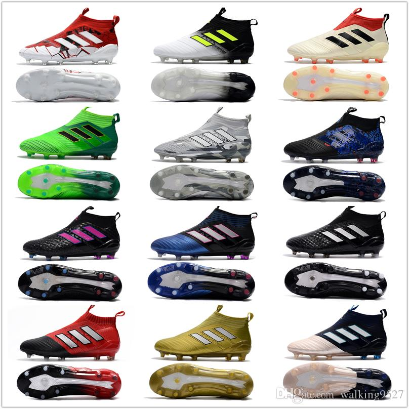 2017 Adidas ACE 17+ PureControl FG Cheap Indoor Soccer Shoes Football Boots  High Top Mens Soccer Cleats Running Shoes for Men Adidas Nmd Yeezy Boost V2  ...