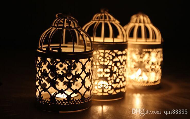 촛대 할로우 레이스 금속 현대 촛대 크리 에이 티브 장식 Loating Candle Holders Design Lantern Tea Light