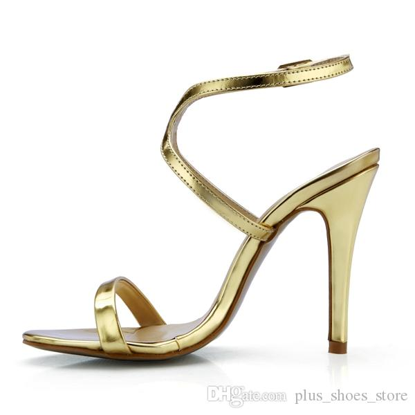 2017 Gold Sandals Bridal Wedding Shoes Real Image Party Shoes Summer Style Party Shoes High Thin Heels Cheap Modest Summer Shoe