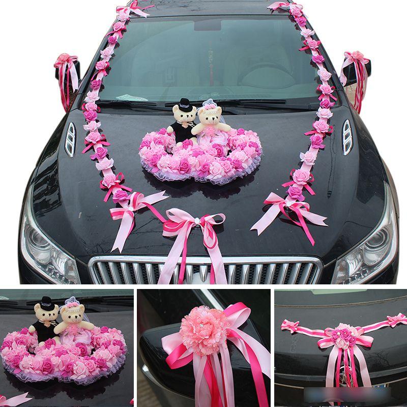 Grosshandel Genie Kunstliche Blumen Hochzeit Auto Dekoration Set