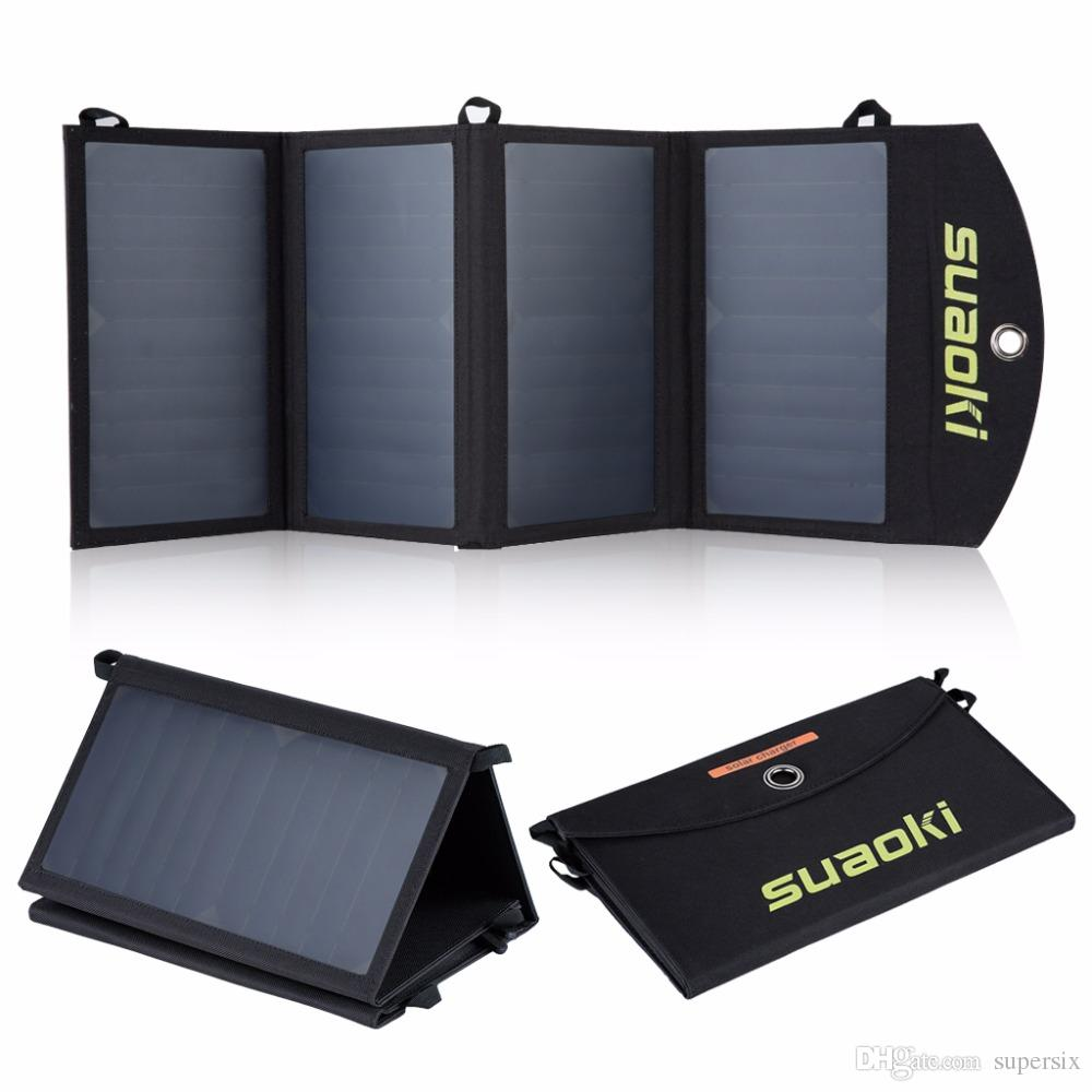 Suaoki 25W Solar Panels Portable Folding Foldable Waterproof Solar Panel Charger Power Bank for Phone Battery Charger