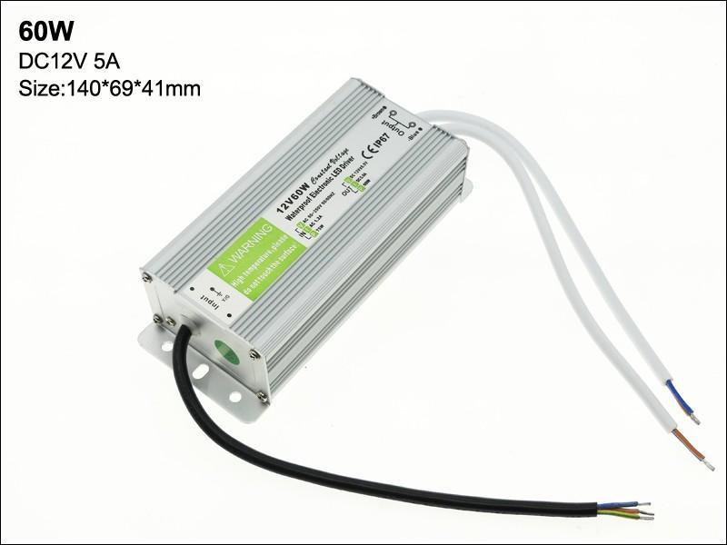 Fuente de alimentación LED de alta calidad LED de 12V 10-200W Transformador LED adaptador de controlador AC 90V-250V Transformador LED impermeable para la luz submarina