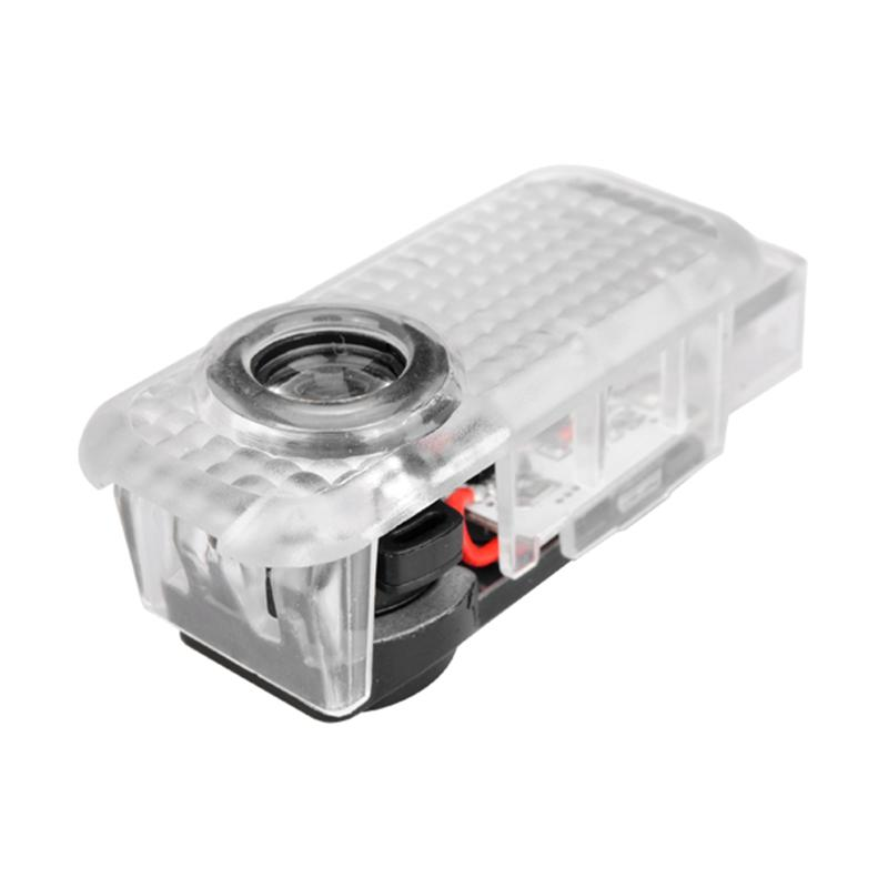 2x Lumière LED porte d'avertissement avec le logo de voiture Projecteur Lampe Ombre Porte Bienvenue Lumières Emblèmes Pour Audi A8 / A6L / A5 / A6 / Q5 / Q3 / Q7 / R8 / TT