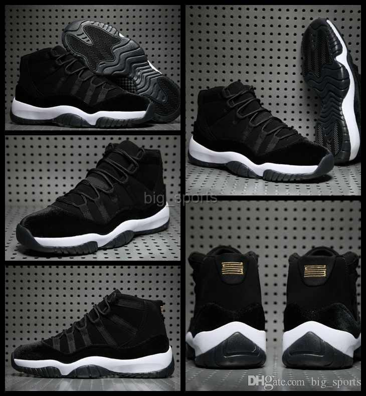 19e3cdd3914481 2017 New 11 Men Basketball Shoes Cheap Black Velvet High Quality Mens  Sneakers 11s Trainers Athletics Man Sports Shoes Eur 36 47 Carmelo Anthony  Shoes ...