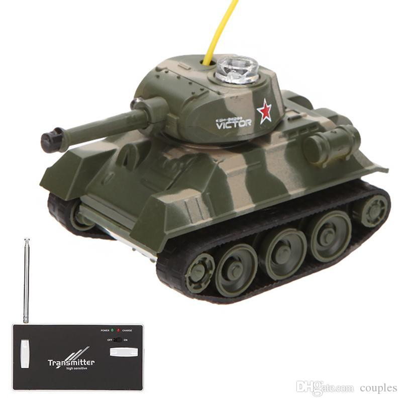 Mini RC Tank Car 4CH Radio Remote Control Vehicle LED Light Happycow 777-215 Toys for Kids Christmas Gift