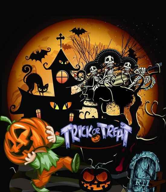 2019 5x7ft vinyl digital trick or treat halloween photography studio rh dhgate com
