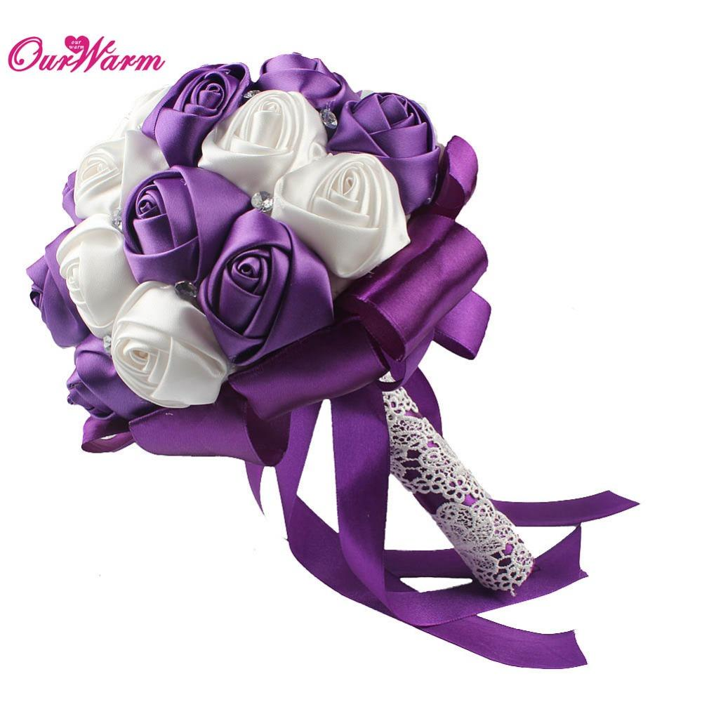 2018 Cheap Artificial Wedding Flowers Bridal Bouquets Wedding ...