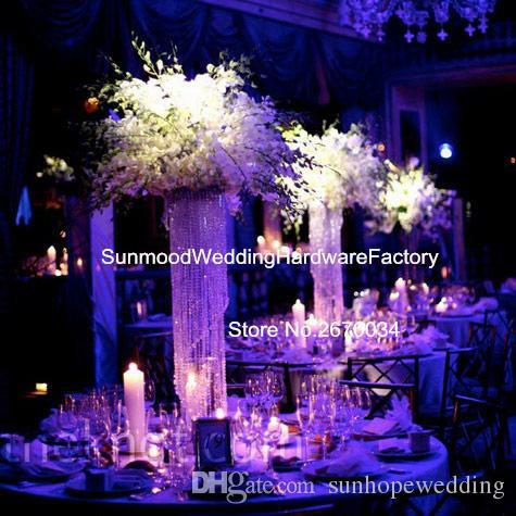 Sıcak satış fashional temizle akrilik kristal geri bırak standı düğün