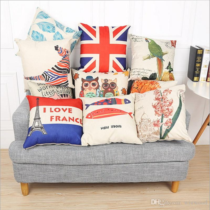 Digital Printing Pillow Case Fashion Sofa Decorative Pillowcase Adorable Decorating Pillow Cases