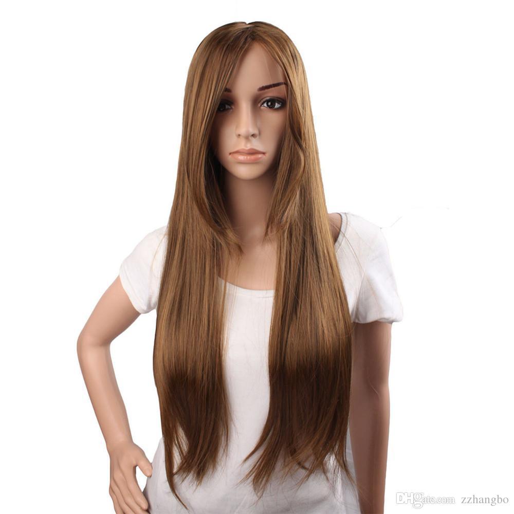 full lace wig Glueless Brazilian Human Hair 100% Full Lace Wigs silky straight Color 30# glueless full lace wig black silky straight kabell